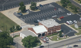 Pflugerville Fire Department Central Station Arial